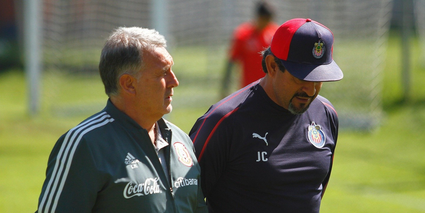 Gerardo Martino en su visita a Verde Valle. (Foto: Getty Images)