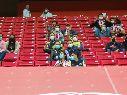 Los aficionados presentes respetaron y cumplieron las normas previstas para este partido